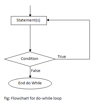 flowchart of do while loop in c programming